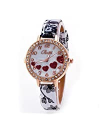 Women Quartz Watches COOKI Loving Heart Clearance Ladies Watches Female watches on Sale Cheap Watches-Q31 (Gray)