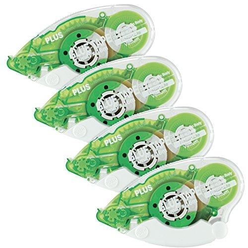 Dispenser Adhesive Vellum (Plus Corporation Glue Tape TG-610BC-VE - Vellum Adhesive, 4-Pack (60388))