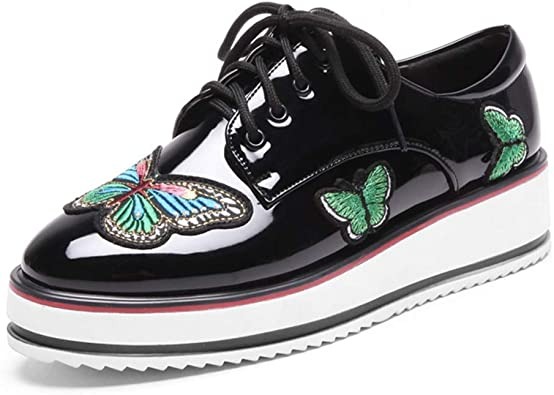 Platform Oxford Shoes Wingtip Lace