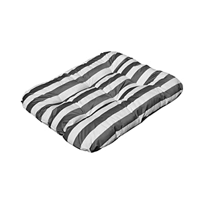 "DBM IMPORTS 55"" x 45"" x 6"" Rectangular Indoor/Outdoor Silver/White Stripe Polyester Replacement Cushion Pillow Sunbed Wicker Swing Chair : Garden & Outdoor"