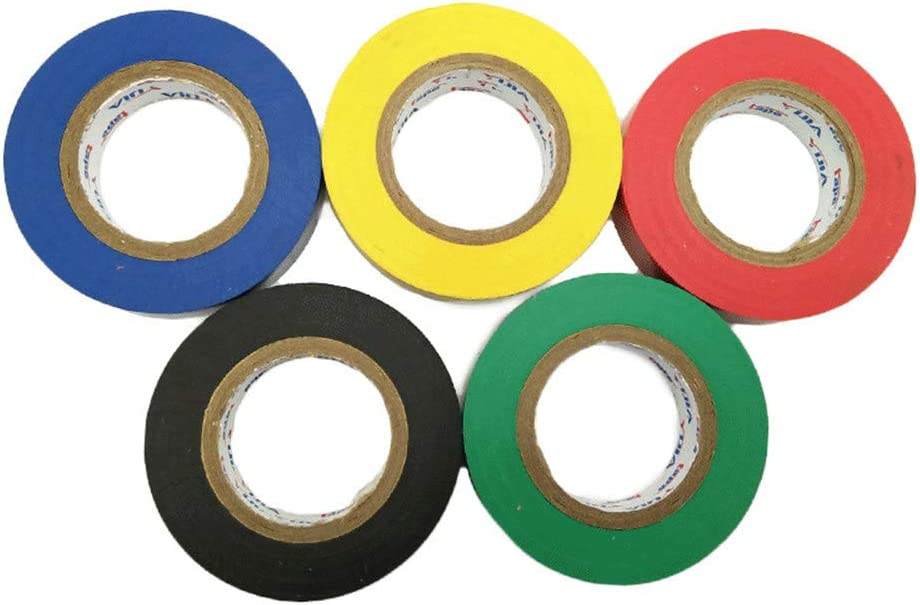 6 cintas aislantes de PVC de colores variados retardantes de llama, 15 m: Amazon.es: Bricolaje y herramientas