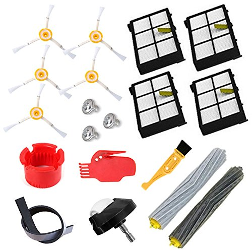 Theresa Hay Tangle-Free Debris Extractor Set & Side Brushes & Hepa Filters replacement Kit For iRobot Roomba 800 series 805 850 860 870 880 980 Vacuum Cleaning Robots Parts