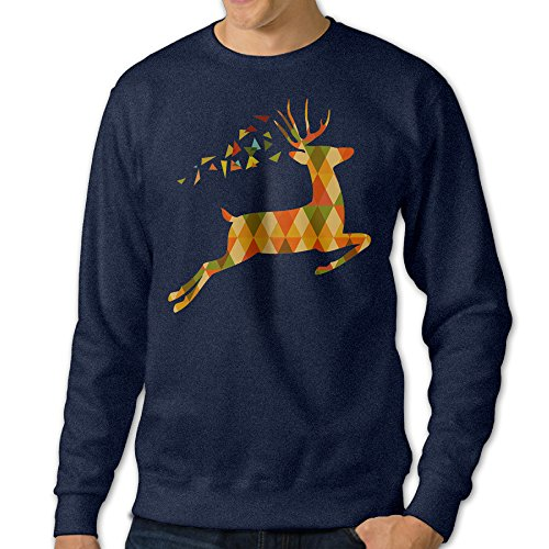 AcFun Men's Best Deer Hooded Sweatshirt Size L Navy