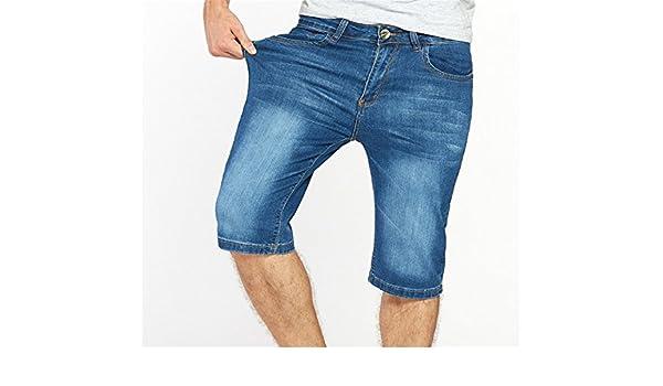 e3760de2667f Woodin Mens Jeans Shorts Plus Size Stretch Thin Denim Jeans Short For Men  Pants Summer at Amazon Men's Clothing store: