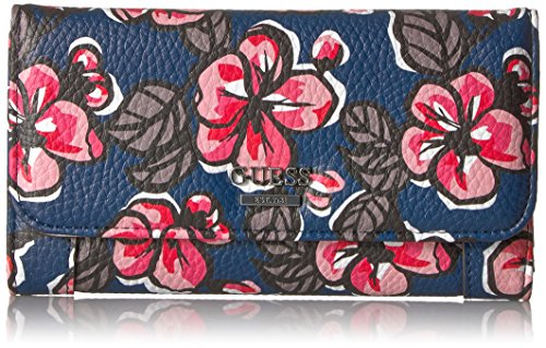 Huntley Floral Slim Clutch Wallet, Floral Multi, One - Guess Pink