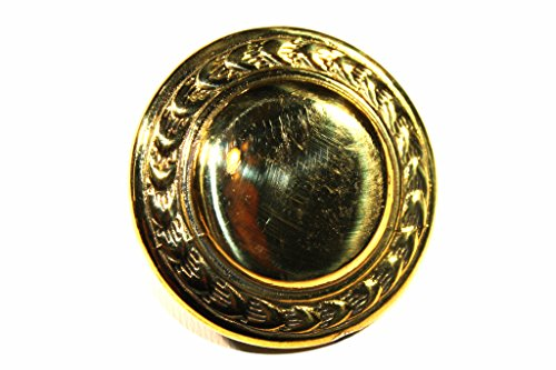Wheat Edge Solid Brass Rosette Loop Back Concho 1-3/4