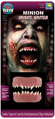 Tinsley Transfers Minion False Teeth FX (2 Piece), White/Pink