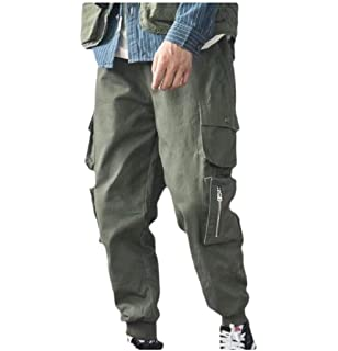 yibiyuan Men Casual Cargo Pants Multi Pocket Military Combat Work Pant
