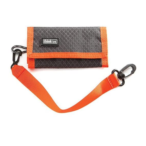 Think Tank Photo SD Pixel Pocket Rocket Memory Card Case (Orange) 1 Fits 9 SD memory cards Compact and fits easily in your pocket Built in business card holder makes for easy identification