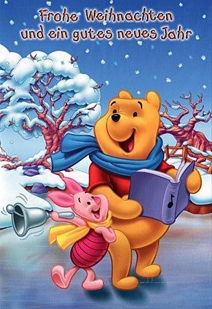 Disney Weihnachtslieder.Disney Weihnachtskarte Winnie Pooh Piglet Singen Weihnachtslieder
