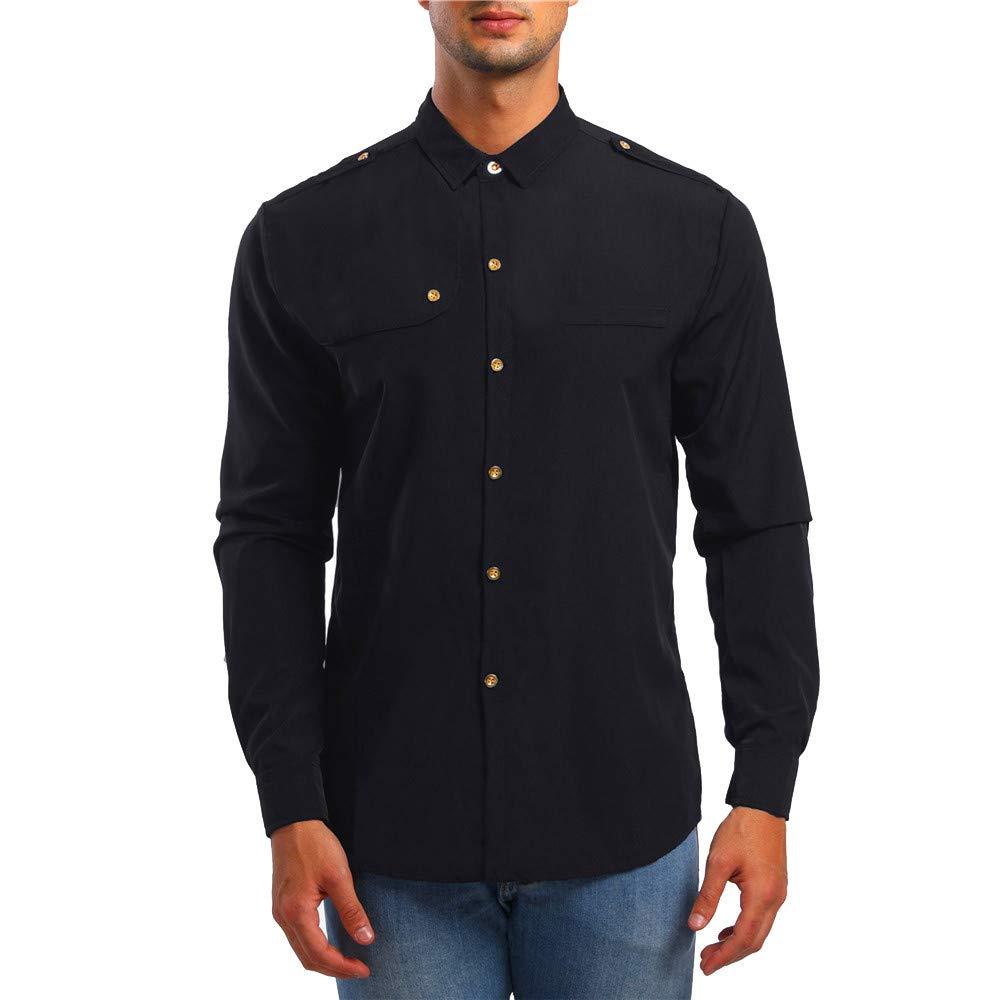 STRIR Hombre Camisas Moda Manga Larga Men Fashion Slim Fit Casual Long Sleeves Shirts STRIR-Ropa