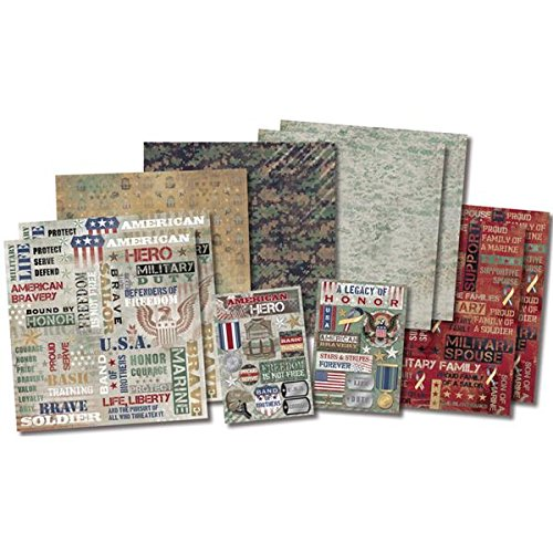 Karen Foster Military Life Design Themed Paper and Stickers Scrapbook Kit -