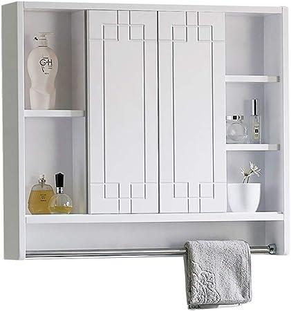 Creative LDF Mueble Espejo De Baño Con Luz LED, Puerta Corredera ...