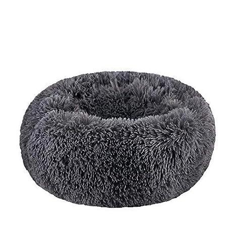 Amazon.com: Cama redonda de felpa suave y moderna ...