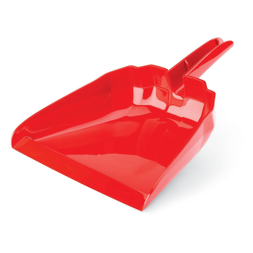 Libman Commercial 911 Dust Pan, Polypropylene, 13'' Wide, Red (Pack of 6)