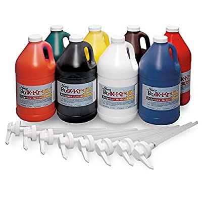Nasco 9100149 Bulk-Krylic Acrylic Paint, 1/2 gal (Pack of 8)
