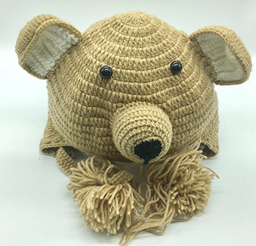 [Seven One -Baby Boys Girls Infant Animal Bear Crochet Hoot Bear Hat Cap Ear Flap Warm] (Luau Costumes Ideas)