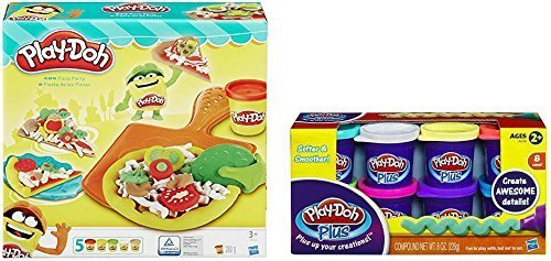 Play-Doh Plus Pizza Party Kitchen Cooking Set Various Assorted Mixed Colors Kids Creative Play Lot -  4177133