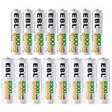 EBL 8*AA & 8*AAA Rechargeable Batteries 1.2V Low Self Discharge Ni-MH 1200 Cycles