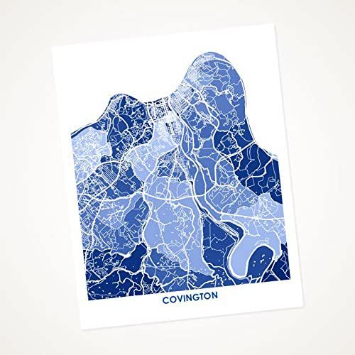 Amazon Com Covington Kentucky Art Map Print Choose Your