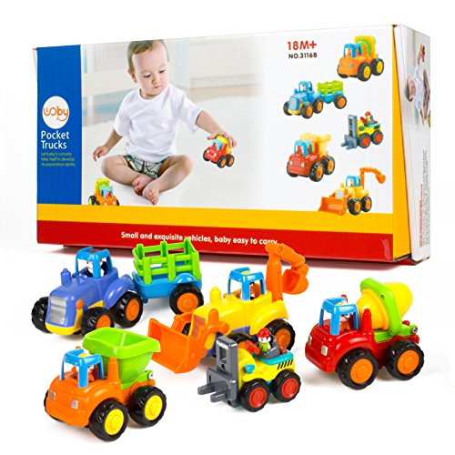 51nVHf7Cs5L - Woby Push and Go Friction Powered Car Toys Set Tractor Bulldozer Mixer Truck and Dumper for Baby Toddlers