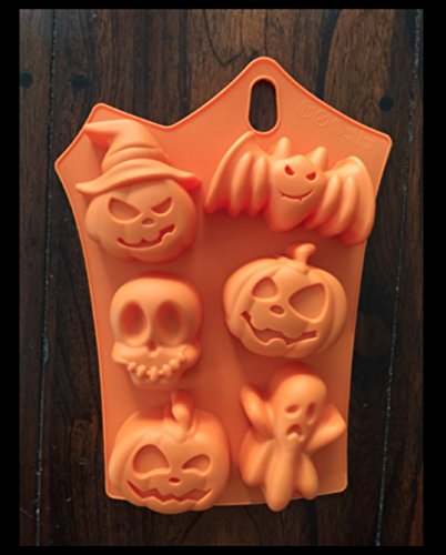 Skulls Ghost Pumpkins cake mold Silicone Pan Candy Chocolate Halloween Mold Ice Tray