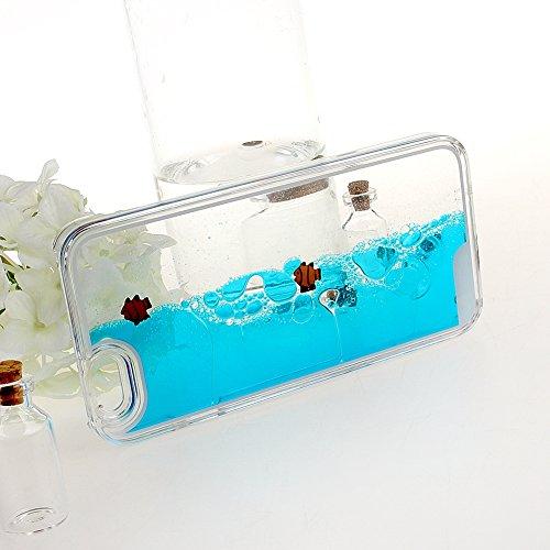 """Schutzhülle für iPhone 6 Plus, Nsstar® Hart Plastic Handyhülle Transparent Clear Cystal Case Glitter Flowing Liquid Wasser Dual Delphin Attraktiv Hard Kunstoff Hülle Etui Schale für iPhone 6 Plus 5.5"""""""