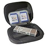 BuckStruck Hard Shell Storage Case for Trail Camera Card Reader and SD Cards - includes 12 pockets for SD Cards