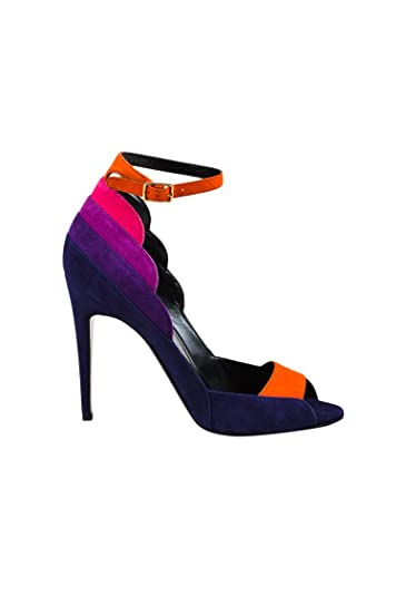 72b68b597 Image Unavailable. Image not available for. Color  Pierre Hardy Women s  Blue Multicolor Suede Roxy Ankle Strap Sandals ...