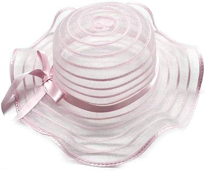 per neonati fino a 6 mesi colore: Rosa scuro Cappello da bambina con fiocco e cravatte estivo Glamour Girlz morbido