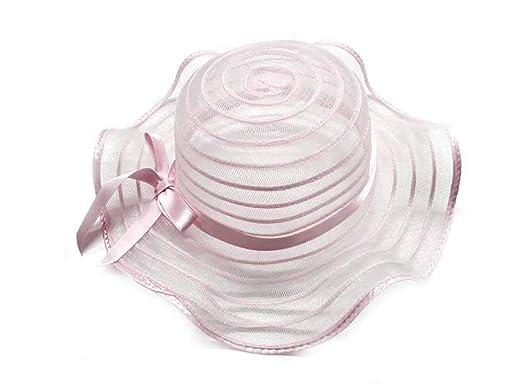 piuttosto economico super economico nuovi prodotti Cappello Rosa Falda ondulata Bombetta Bambina Bimba Elegante ...