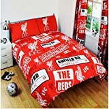 Liverpool Official Patch Double Duvet Cover Set - Red