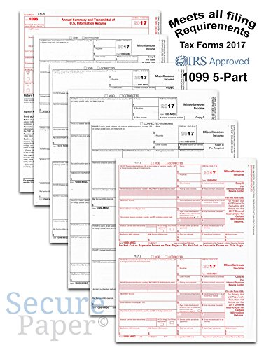 Complete Laser 1099 Misc Tax Form Set And 1096   Kit For 25 Vendors  5 Part  All 1099 Forms In Value Pack   1099 Misc 2017