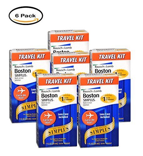 PACK OF 6 - Boston: Simplus Travel Kit Multi-Action Solution, 1 Fl Oz by Generic