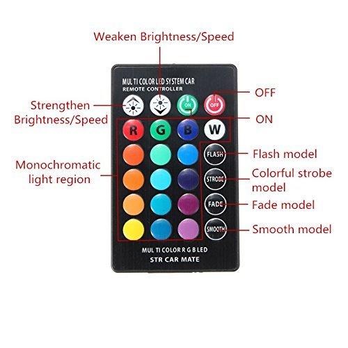 T10/LED RGB coche interior luz de lectura 5/W SMD 5050/Super luz Automtive coche Dashboard Bombilla de repuesto 12/V con control de romote