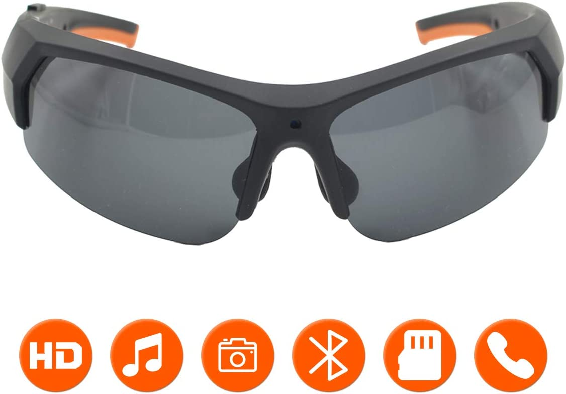 KAMRE Bluetooth Sunglasses Camera, 1080P Video Recorder Glasses Camera with UV Protection Polarized Lens, Great Gift for Daily Life