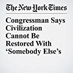 Congressman Says Civilization Cannot Be Restored With 'Somebody Else's Babies' | Matthew Haag