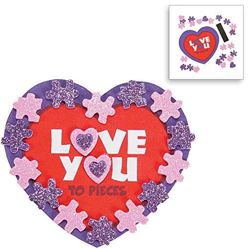 Valentine Day Craft Kit Heart Picture Photo Frame Kit Import It All
