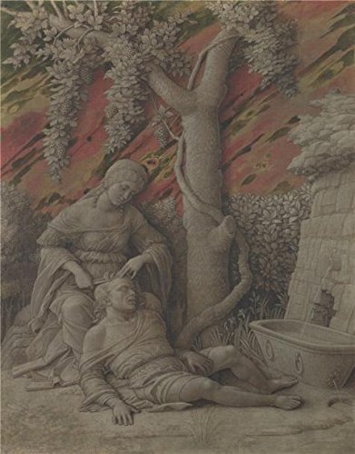 The Perfect Effect Canvas Of Oil Painting 'Andrea Mantegna - Samson And Delilah,about 1500' ,size: 24x31 Inch / 61x78 Cm ,this High Quality Art Decorative Canvas Prints Is Fit For Gift For Girl Friend And Boy Friend And Home Decor And Gifts
