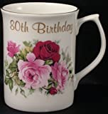 80th Birthday gift Mug in Bone china