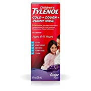Children's Tylenol Cold, Cough, and Runny Nose Medicine, Grape, 4 Fluid Ounce