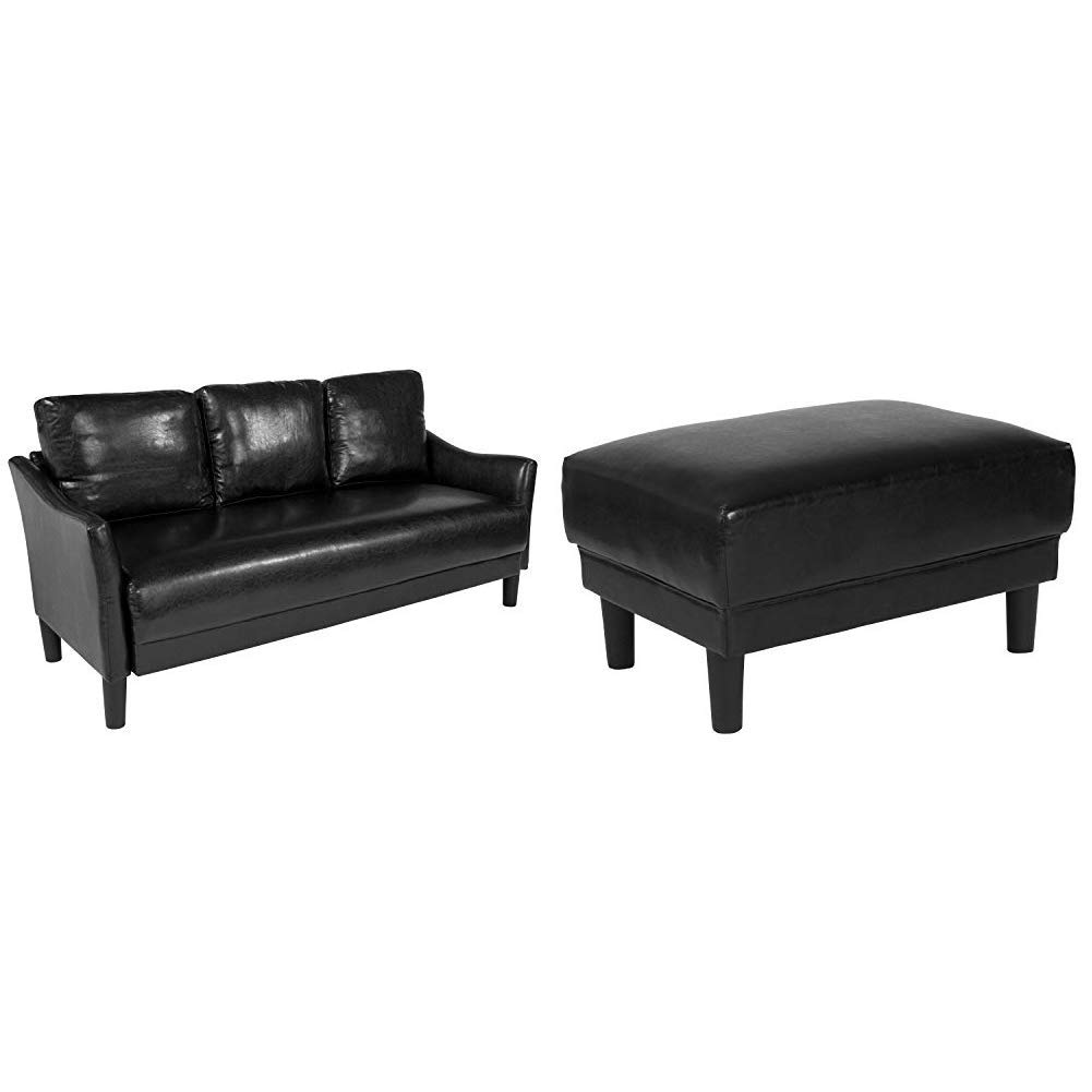 Amazon.com: Flash Furniture Asti Upholstered Sofa and ...