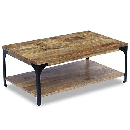 Admirable Amazon Com Industrial Coffee Table Solid Mango Wood And Creativecarmelina Interior Chair Design Creativecarmelinacom
