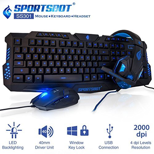 blue led keyboard - 6