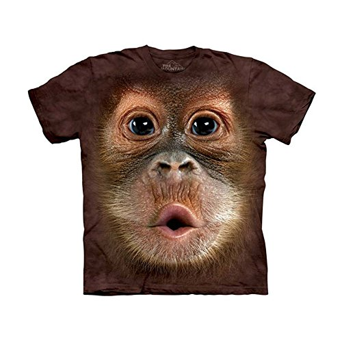 - The Mountain Kids Big Face Baby Orangutan T-Shirt, Small, Brown