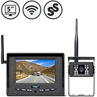 Rear View Safety RVS-155W Digital Wireless Backup Camera System with Furrion Prewire Adapter for RV, Truck, Bus and Commercial Vehicles