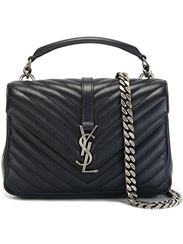 Saint Laurent Women's 428056Brm044147 Blue Leather Shoulder Bag