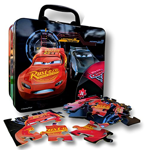 Disney Cars 3 Puzzle in Tin Box with Handle