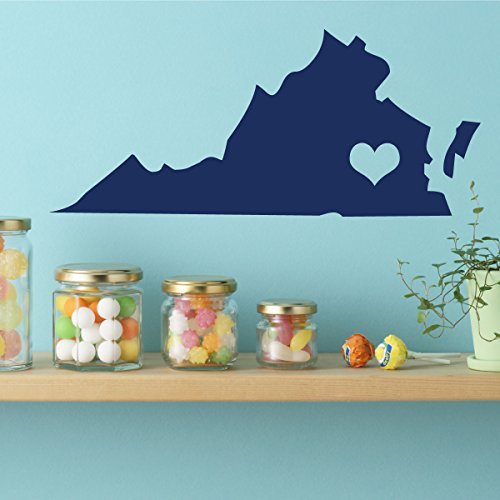 Virginia State - Vinyl Wall Art, 10th State, Richmond Virginia, Thirteen Colonies, Old (Halloween Parties Richmond Va)