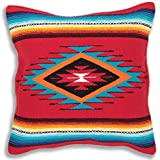Serape Throw Pillow Cover, 18 X 18, Hand Woven in Southwest and Native American Styles. 5